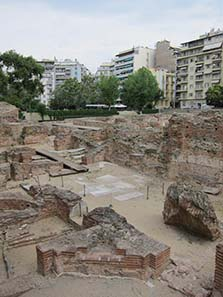 Part of the unearthed Palace of Galerius. Photograph: KW.