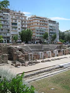Greek agora of Thessaloniki. Photograph: KW.