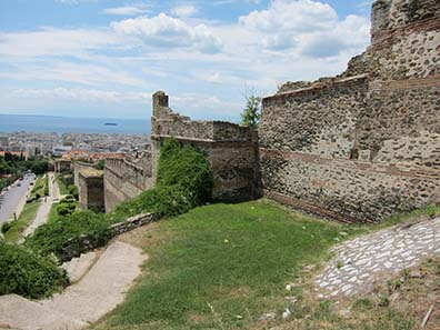 Byzantine city wall. Photograph: KW.
