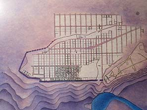 Map of Olynthos, a city designed on the drawing board. Photograph: KW.