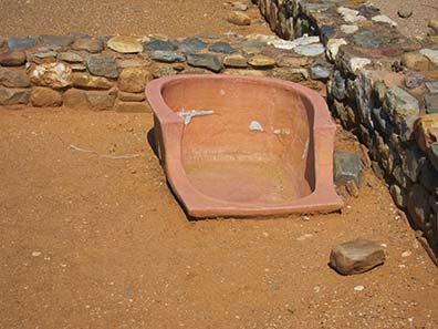 Ancient bath tub. Photograph: KW.