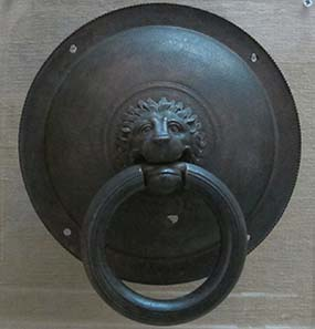 Ancient door knocker from Olynthos. Photograph: KW.