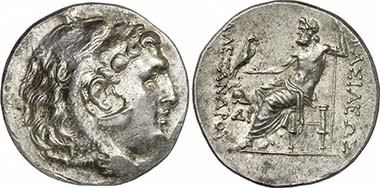 Mesembria. Tetradrachm following the Alexandrian type, 250-175. Mint mark: Corinthian helmet and DI. From auction Gorny & Mosch 186 (2010), 1279.