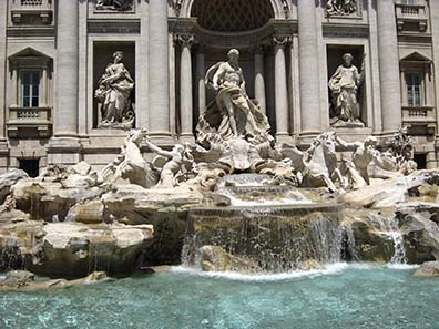 Trevi Fontain - one coin is for coming back to Rome, two for a romance in the Eternal City and three it takes to ensure a marriage with Roman woman or a man, respectively.
