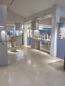 View inside the Museum of Amphipolis. Photograph: KW.