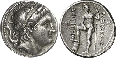 Demetrios Poliorketes. Tetradrachm, minted in Amphipolis, 289/7. From auction Gorny & Mosch 196 (2011), 1424.