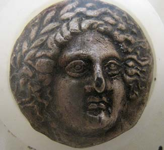 Tetradrachm from Amphipolis. Is it truly authentic? Photograph: KW.
