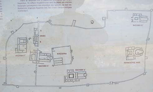 Map of the archaeological excavation of Amphipolis. Photograph: KW.