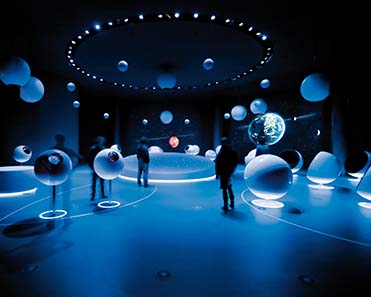 A view inside the exhibition ?Universe of Particles? in CERN, Geneva. Photograph: Michael Jungblut.