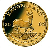 Pic. 08: Krugerrand 2006, minted in Berlin, with Berlin bear mintmark - 2010 this issue will be revived.