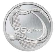 Medallion replicating the relay participant medal of Rick Hansen's Man in Motion World Tour.
