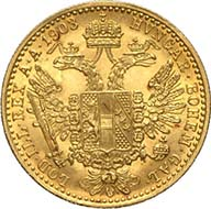 Ducat 1903, Vienna. J. 344. From Künker sale 195 (September 28, 2011), 4156. About brilliant uncirculated. Estimate: 125 Euros. - Ducats were actually produced for a longer period of time and can still be acquired at the Austrian Mint.