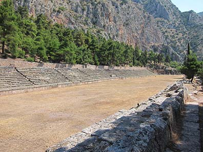 Stadium of Delphi. Photograph: KW.