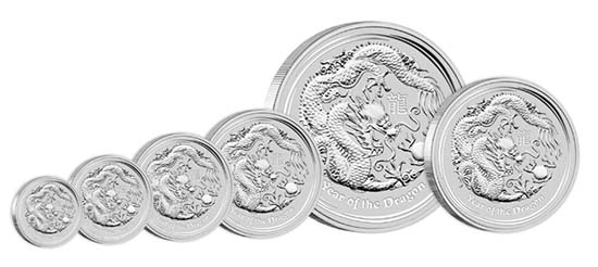 Australia - Various mintage specifications available as follows: 300 AUD - 10 kg 999 silver - 10,010.00 g - 221.00 mm - Mintage: 500 // 30 AUD - 1 kg 999 silver - 1,001.00 g - 100.60 mm - Mintage: Unlimited // 10 AUD - 10oz 999 silver - 311.35 g - 85.60 mm - Mintage: Unlimited // 8 AUD - 5oz 999 silver - 155.67 g - 65.60 mm - Mintage: Unlimited // 2 AUD - 2oz 999 silver - 62.27 g - 55.60 mm - Mintage: Unlimited // 1 AUD - 1oz 999 silver - 31.14 g - 45.60 mm - Mintage: 300,000 // 0.50 AUD - 1/2oz 999 silver - 15.59 g - 36.60 mm - Mintage: Unlimited.