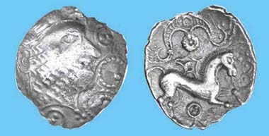 Carl's Crown silver unit, c. 50-30 BC. Only one other recorded. Chris Rudd List 119, September 2011, no. 28, GBP 5,200. Source: Chris Rudd.