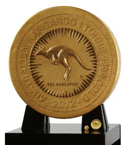 The one tonne gold coin dwarfs the 1 kilo and 1 oz coins from the 2012 Australian Kangaroo Gold Bullion Coin Program.