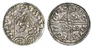 Harold I (1035-1040). Penny, London, approx. 1038-1040. Bust to left with fleur-de-lis sceptre. Rv. long voided cross with circle in centre; lis between two pellets in each quarter. Seaby 1165. From Künker auction 176 (2010), 5882.