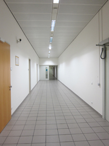 This long corridor not only conducts to the GSA, but Austria?s banknote printing works is located further down. Photo: UK.