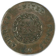 3020: 1793 Chain 1C Periods MS65 Brown PCGS. CAC. S-4, B-5, High R.3.
