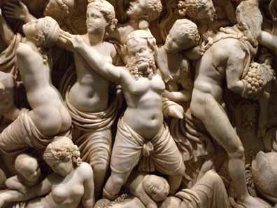 Detail of a sarcophagus. Photo: UK.