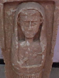 Tombstone from ancient Anemourion. Photo: UK.