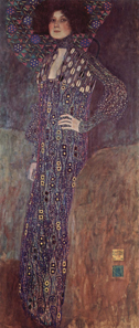 Gustav Klimt, Emilie Floege, 1902. Oil on canvas. Historisches Museum der Stadt Wien. Source: Wikipedia.