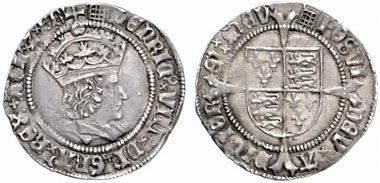 Henry VIII (1509-1547). Groat, London, no year (1509-1526). Seaby 2316. From Künker auction 119 (2007), 799.