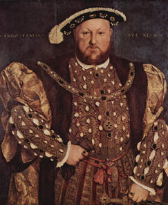 Portrait of Henry VIII, c. 1539-1540 by Hans Holbein the Younger (1498-1543). Source: Wikipedia.