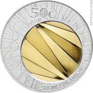 The 50 euro collector coin in gold and silver.