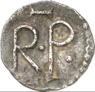 Pepin the Short, 752-768. Denarius, Angers. Depeyrot 40. From auction Künker 205 no. 1394. Estimate: 5,000 euros.