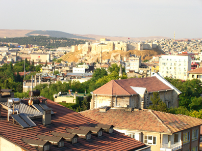 View from the hotel's terrace over the old town of Gaziantep. Photo: UK.