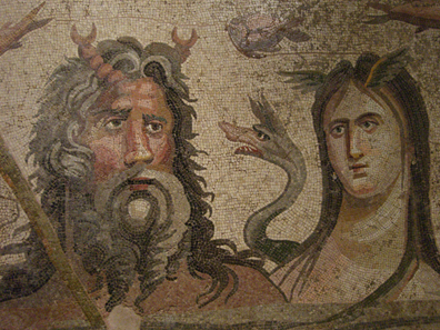River gods. Mosaic in the archaeological museum of Antep. Photo: UK.