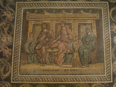 Mosaic of Zosimus in the archaeological museum of Antep. Photo: KW.