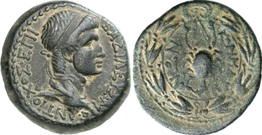 Antiochus IV, 38-72. Bronze. Rev. scorpion. From auction Gorny & Mosch 196 (2011), 2270.