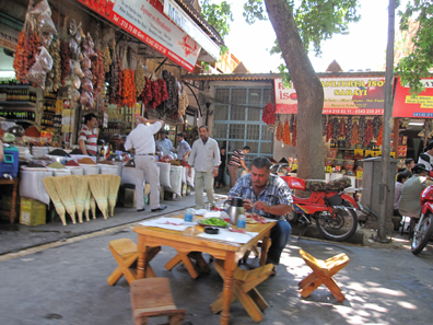 A view inside the bazaar. Photograph: KW.
