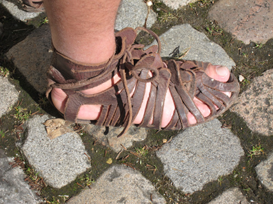 Legionary sandals. Photo: UK.