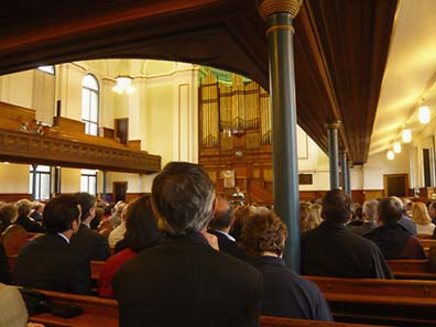Closing ceremony in the Wellington Church. Photograph: Ragnar Hedlund