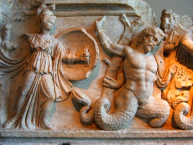 Gigantomachy. Relief from Aphrodisia. Photograph: KW.