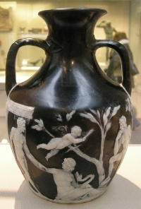 The Portland Vase, today on display in the British Museum. Photograph: Wikipedia (sailko).