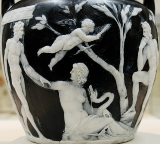 Detail of the Portland Vase. Photograph: Wikipedia (Marie-Lan Nguyen).