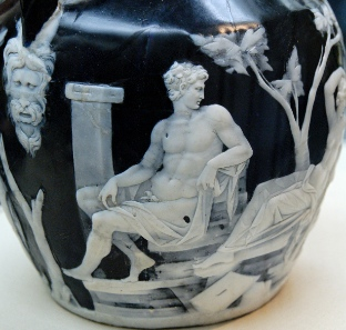 Detail of the Portland Vase. Photograph: Wikipedia (Jastrow).
