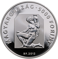 Hungary / 5000 HUF / Silver 925 / 38.61 mm / 31.46 g / Design: Mihaly Fritz / Mintage: 6,000 pcs (Proof).