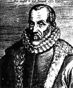 Ogier Ghiselin de Busbecq was named him ambassador to the Ottoman Empire in Constantinopel under the rule of Suleiman the Magnificent in 1554. He sent Turkish tulpi bulbs to Europa making the flower thus known in his home country. Engraving of Ogier Ghislain de Busbecq, by Jean François Foppens (1689-1761). Source: Wikipedia.