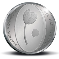 The Netherlands / 5 Euro / .925 Silver / Proof / 33 mm / 15.5 g / Mintage: 12,500 (including coloured variations).