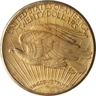 Lot 1383: 1908-S $20 Double Eagle. Sold for $18,720.