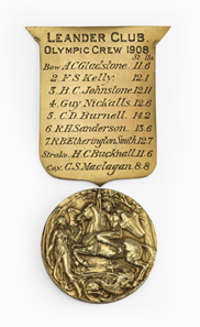 Olympic gold medal of the men's eigth during the VIII Olympic Summer Games in London in 1908.