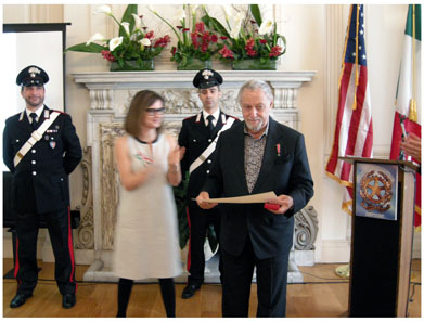 IADAA Member Jerome M. Eisenberg Honored by the President of Italy.