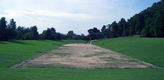 The stadion in the ancient site of Olympia. Photo: Drno / Wikipedia.