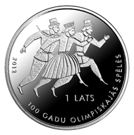 Latvia / 1 lats / .925 silver / 22.00 g / 35.00 mm / Design: Aigars Bikse / Mintage: 5,000.