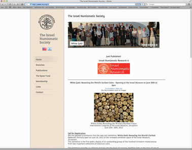 Website of the Israel Numismatic Society.